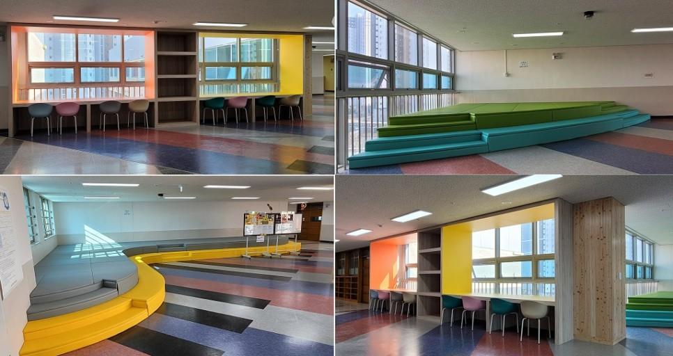 5층은 공연을 할 수 있고 카페 같은 공간에서 이야기도 나눌 수 있다.
