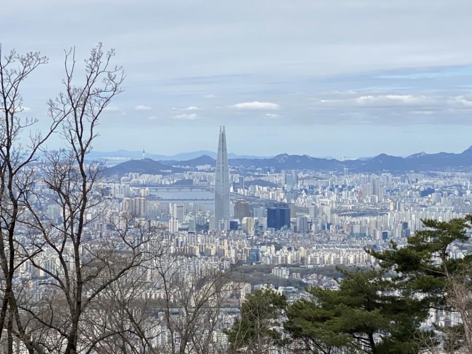 남한산성 위에서 바라본 서울의 모습