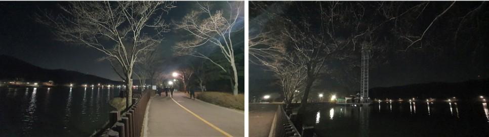호수 둘레로 펼쳐진 조명과 시원한 바람 함께하는 율동공원의 밤은 또 다른 모습이다.