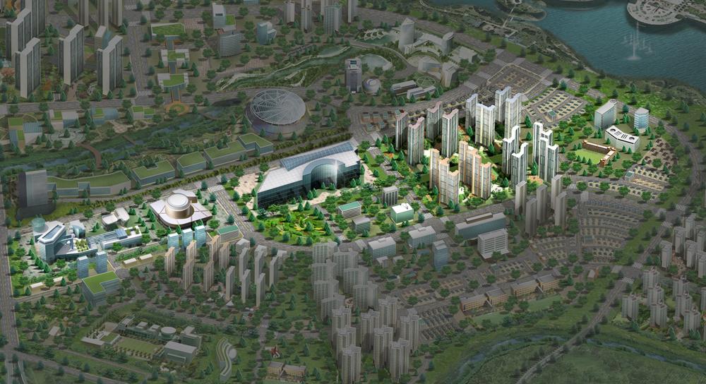 경기도와 경기주택도시공사(이하 GH)는 20일 고양시 일산동구 GH 고양사업단 부지에서 '경기고양 방송영상밸리 도시개발사업 기공식'을 개최한다고 밝혔다. 경기고양 방송영상밸리 조감도.
